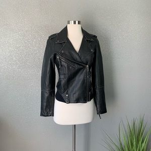 Members Only Vegan Leather moto jacket small